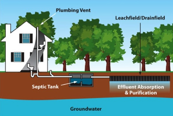 Septic system design bannon engineering for Typical septic system